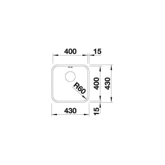 Blanco Supra 400-U Inox