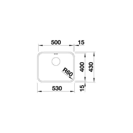 Blanco Supra 500-U Inox